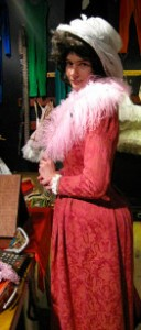 Thespian Zach dressed as lady in pink